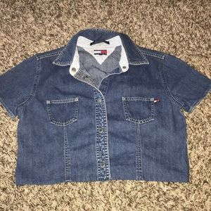 Tommy jeans cropped denim top